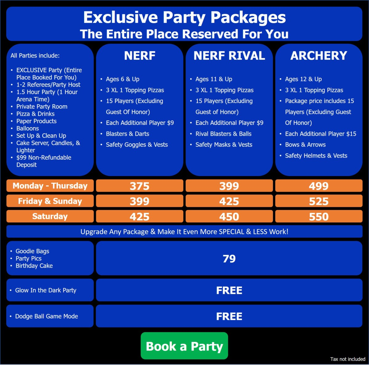Party Packages – Playgrounds Dart Zone